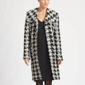 ST. JOHN Houndstooth Knit Jacket Topper Coat